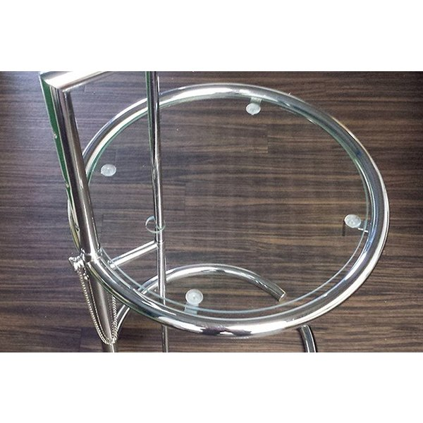 パール サイドテーブル ガラステーブル アイリーングレイ デザイナーズ リプロダクト E1027 4段階調節 モダン|bebeimport|04