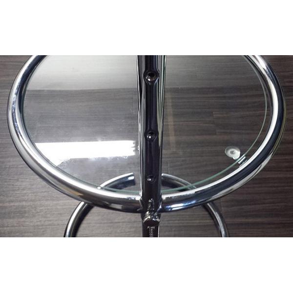 パール サイドテーブル ガラステーブル アイリーングレイ デザイナーズ リプロダクト E1027 4段階調節 モダン|bebeimport|07