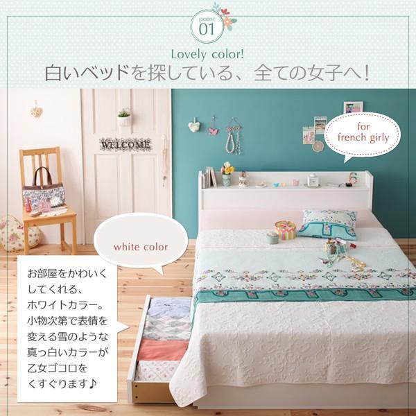 ベッド マットレス付き セミダブル 引出付き 〔レギュラー丈/リネンなし〕 スタンダードポケットコイル bed-lukit 04