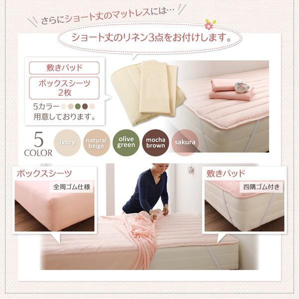 ベッド マットレス付き セミダブル 引出付き 〔レギュラー丈/リネンなし〕 スタンダードポケットコイル bed-lukit 09