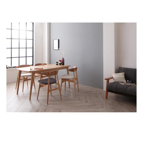 ダイニングテーブルセット 5点 〔テーブル幅150cm+チェア4脚〕 ミックス スタッキング bed-lukit 07