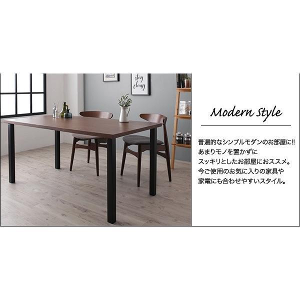 ダイニングテーブル 単品 〔ナチュラル/ストレート脚/テーブル幅120cm〕 スチール脚 インダストリアル|bed-lukit|04