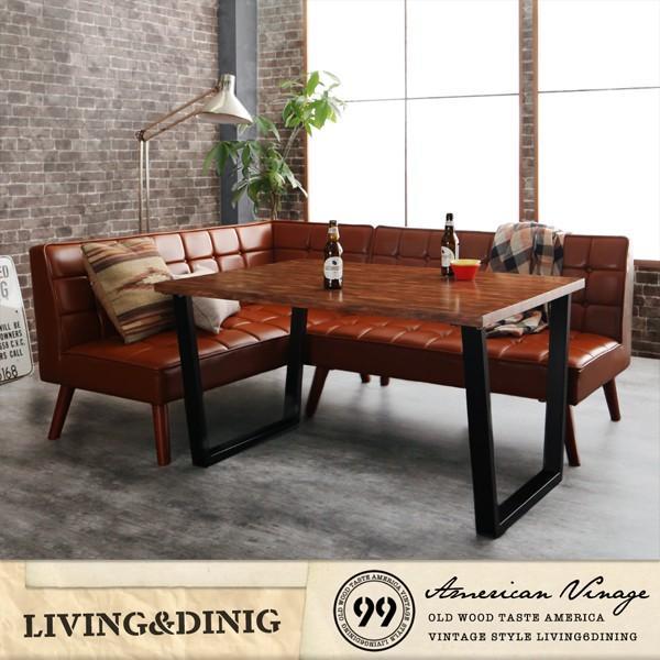 ダイニングテーブル アイアン脚 150cm×80cm 古木風 インダストリアル|bed-lukit|02