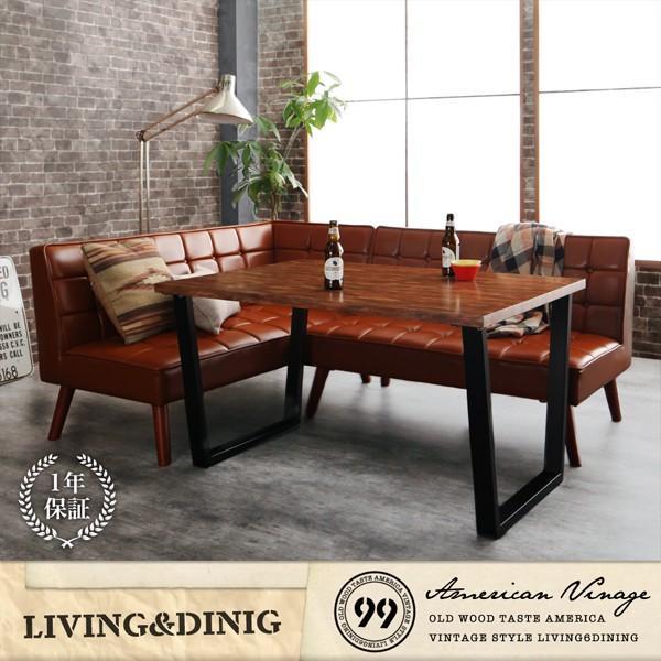 ダイニングテーブル アイアン脚 150cm×80cm 古木風 インダストリアル|bed-lukit|17