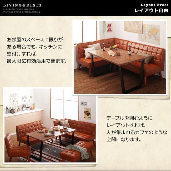 ダイニングテーブル アイアン脚 150cm×80cm 古木風 インダストリアル|bed-lukit|06