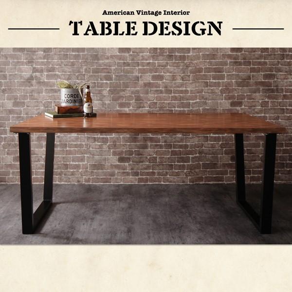 ダイニングテーブル アイアン脚 150cm×80cm 古木風 インダストリアル|bed-lukit|10