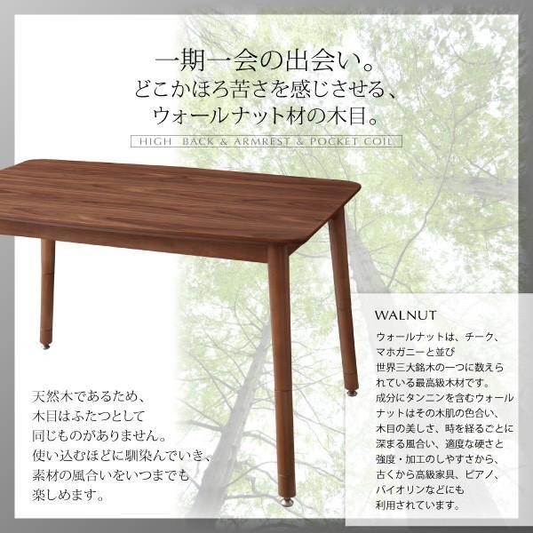 ダイニングテーブルセット 5点 〔テーブル105cm+右肘ソファ1脚+左肘ソファ1脚+1Pソファ1脚+コーナーソファ1脚〕 高さ調整可能  ハイバック|bed-lukit|15