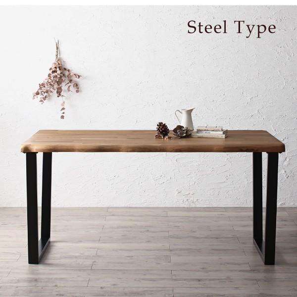 ダイニングテーブルセット 4人用 5点セット 〔テーブル幅150cm+チェア4脚〕 無垢材テーブル デザインチェア|bed-lukit|12