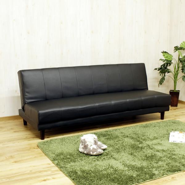 ソファーベッドソファベッド安いレザーおすすめシンプルリクライニングお買い得樹脂脚