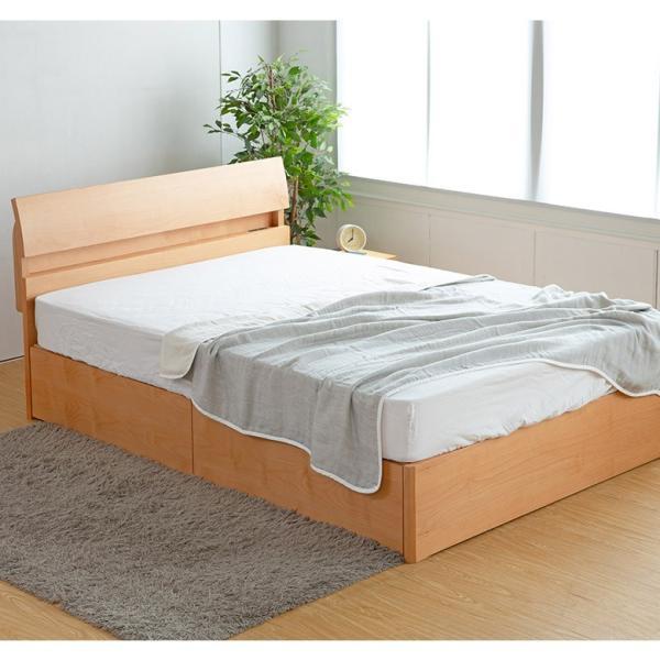 収納付きベッド ダブルベッド 木製 ドミールII アルダー 引き出し付 ダブル すのこ 2口 コンセント付き 棚付き 高さ調節 おしゃれ マットレス別売り bed 05