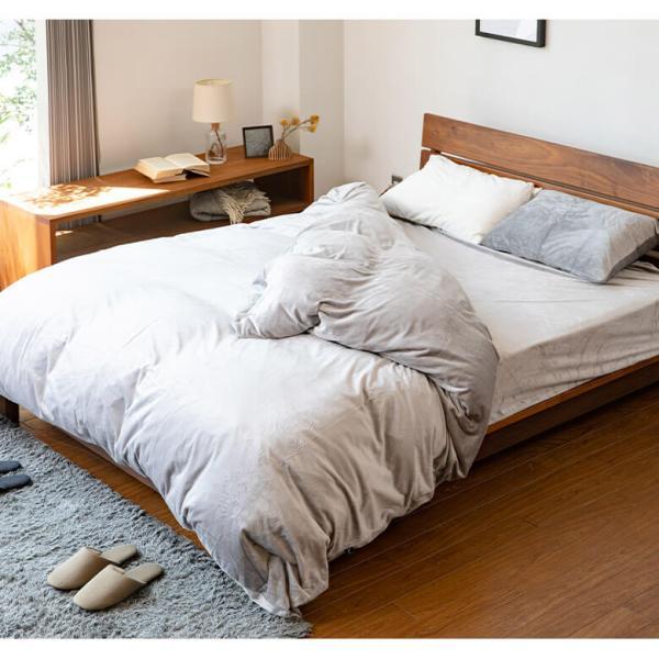 ボックスシーツ ワイドダブル マイクロファイバー 152×200×30cm あったか 冬用 シーツ 暖かい マットレスカバー ベッドシーツ ベットシーツ 静電気防止|bed|05