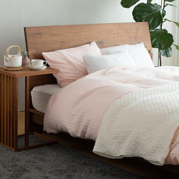 ボックスシーツ サテンストライプ ダブル (140×200×30cm) ベッドシーツ ベットシーツ ベッドカバー|bed|09