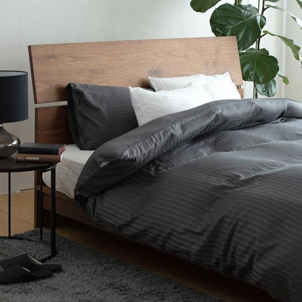 ボックスシーツ サテンストライプ ダブル (140×200×30cm) ベッドシーツ ベットシーツ ベッドカバー|bed|10