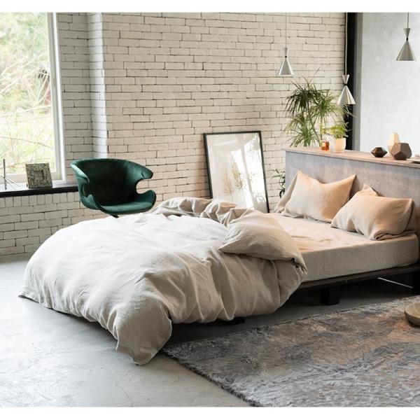 ボックスシーツ クイーン 麻100% ファインリネン ワンウォッシュ 160×200×30cm 上質 リネン シーツ ベッドシーツ ベッドカバー ナチュラル やわらか 軽量|bed|03