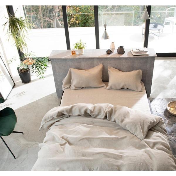 ボックスシーツ クイーン 麻100% ファインリネン ワンウォッシュ 160×200×30cm 上質 リネン シーツ ベッドシーツ ベッドカバー ナチュラル やわらか 軽量|bed|05