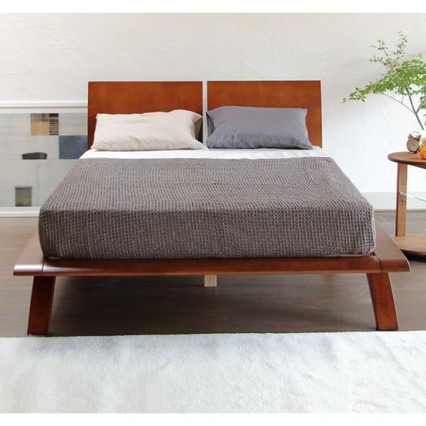 木製ベッド(クイーン) オアシス(ブラウン)マットレス別売り(フレームのみ) 組立設置付|bed|03