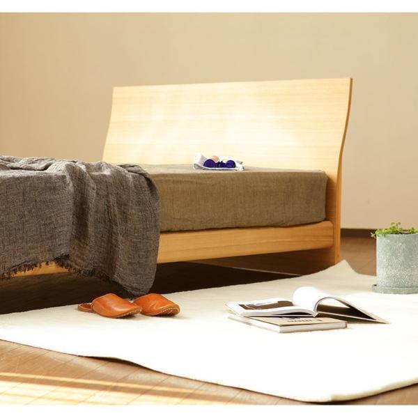 ダブルベッド ダブルベット グランデール ナチュラル ダブル 木製ベッド マットレス別売り 組立設置無料  フレーム|bed|03