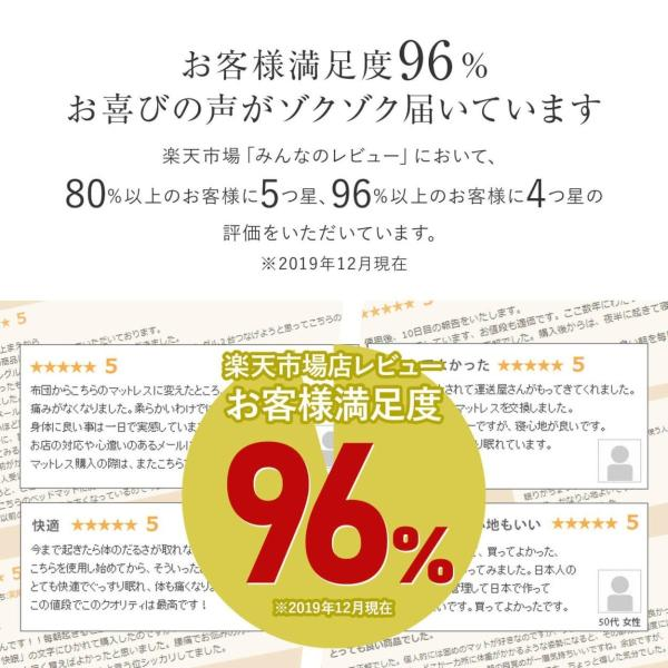 マットレス ポケットコイル ダブル 日本製 国産|bed|05