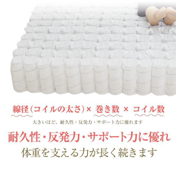 マットレス ポケットコイル シングル または 85スモールシングル ベッド用 ポケットコイルマットレス EN101P|bedandmat|10