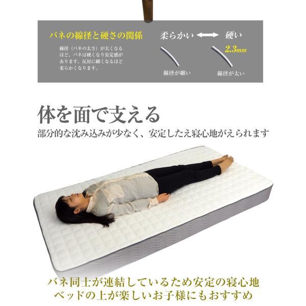 マットレス ボンネルコイル ダブル スプリング ベッド用 3Dメッシュ 耐久性 BB102B|bedandmat|07