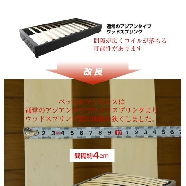 ベッドフレーム シングル ボックススプリング BB600K ノックダウン 組み立て式|bedandmat|05