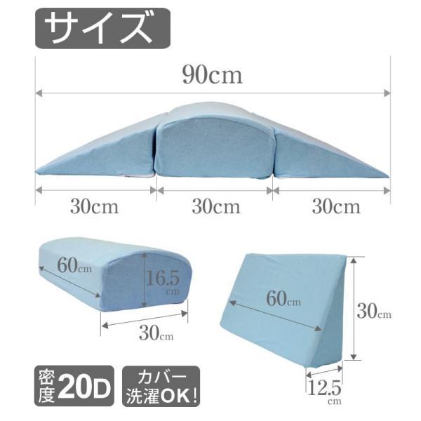 背中ストレッチクッション 寝返り防止クッション 体位変換 ウレタン 三角 アーチ エビ反りクッション 腰枕|bedandmat|14