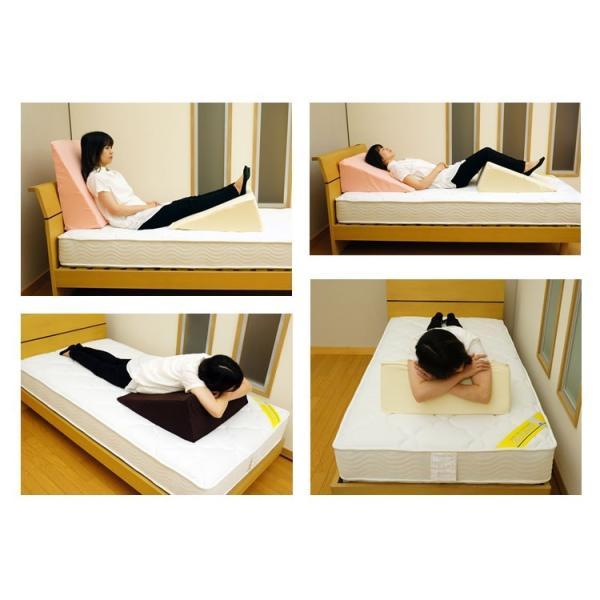 ウレタン 三角クッション 逆流性食道炎 枕 高反発 ベッド 介護 寝返り 洗濯 体位変換 20D 母の日ギフト対応 bedandmat 11