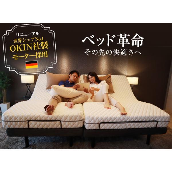 電動ベッド ベッド セミダブル 電動リクライニングベッド  アジャスタブルベース G-Free g-free グレー|bedandmat|02