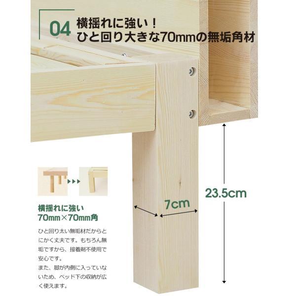 木製ベッドフレーム シングル 85スモールシングル すのこ 宮付き 二口コンセント付き CN0602|bedandmat|17