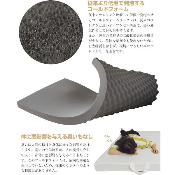 マットレス シングル 高反発 ベッド 10cm ウレタンマットレス ノンスプリング|bedandmat|03