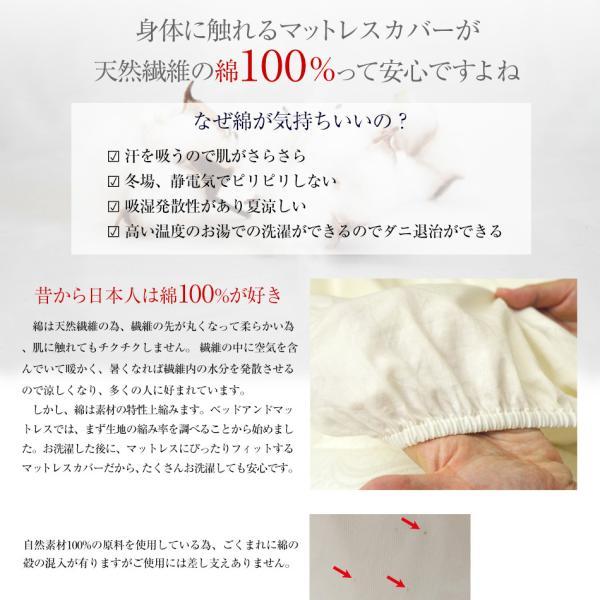 ボックスシーツ セミダブル 綿100% ベッド用 マットレスカバー ワンタッチ ゴム留めタイプ マチ幅3種 SD デイリーコレクション G01|bedandmat|06