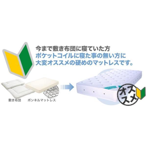 超高密度 ポケットコイル マットレス シングル JB323P【大型商品の為日時指定不可】|bedandmat|02