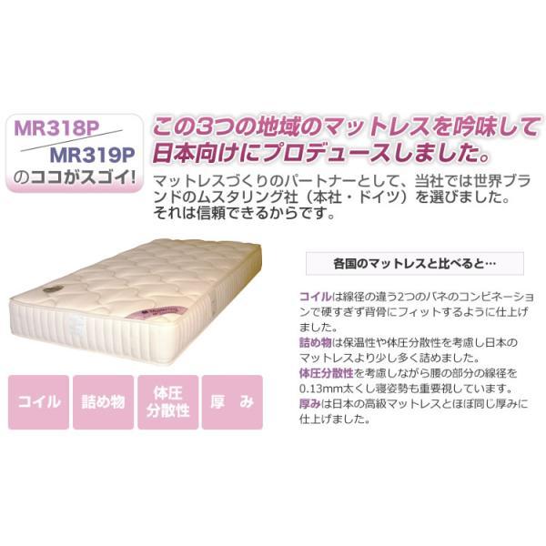 マットレス ポケットコイル セミダブル ベッド用 ムスタリング MR318P・MR319P|bedandmat|07