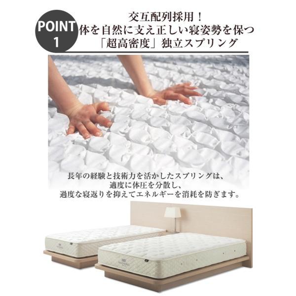 日本ベッド シルキーポケット レギュラー シングル マットレス ポケットコイル ベッド用 11209|bedandmat|03