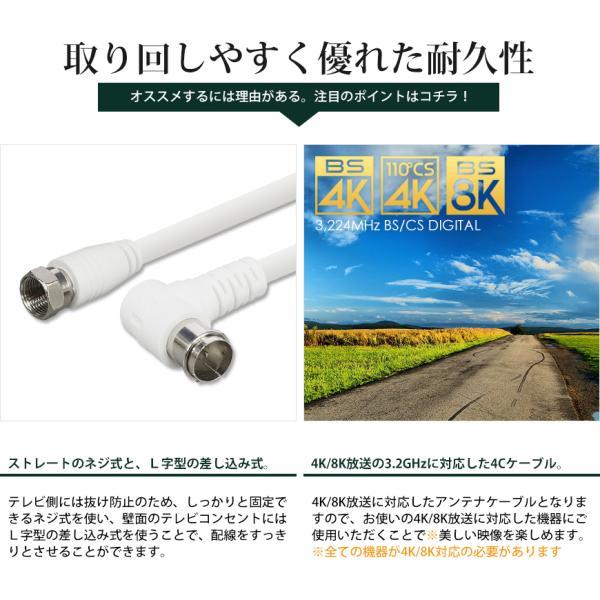 アンテナケーブル 同軸ケーブル 5m 4K8K対応 S-4C-FB 地上デジタル 地デジ BS CS TV テレビ FL-5M 送料無料|beebraxs|03