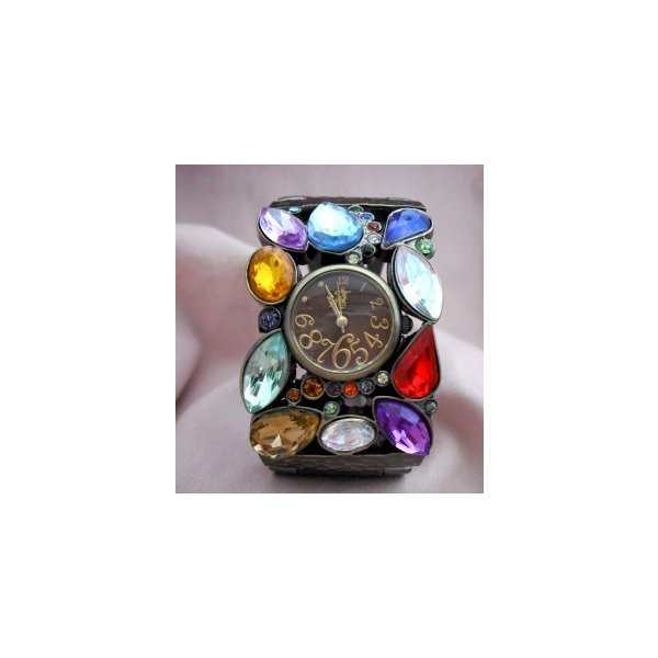 マルチストーンバングルBW-レディース腕時計