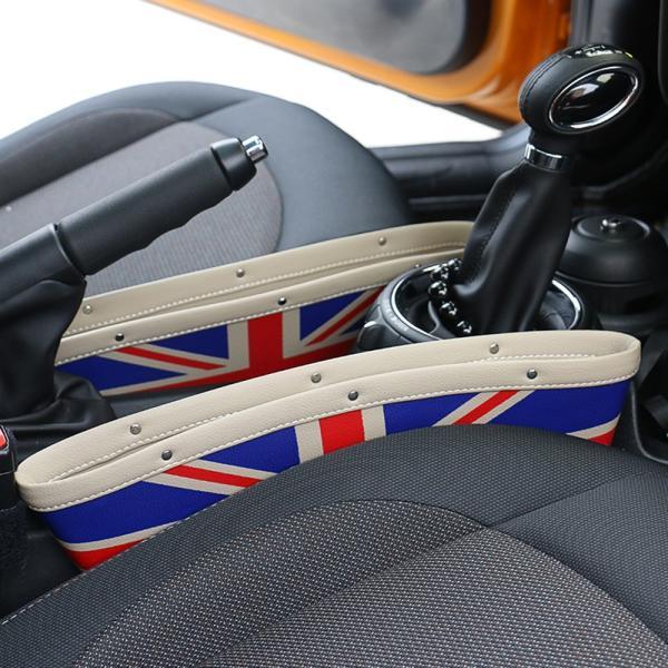 チェッカーフラッグ柄 小物入れ PUレザー製 シートの隙間に設置 BMW MINIなどに最適 シートギャップ 革製 ミニクーパー カスタムパーツ アクセサリー 内装 収納 beetech-japan 07