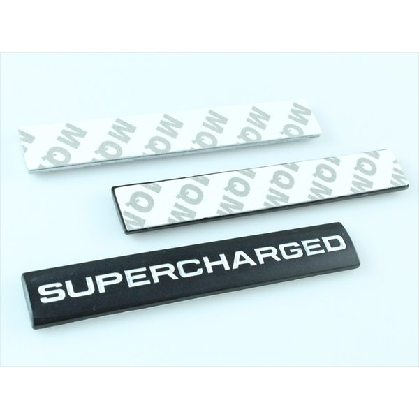 SUPERCHARGED プレート エンブレム 全3色 メタル製 金属製 スーパージャージド スーパーチャージャー ステッカー シール 外装|beetech-japan|06