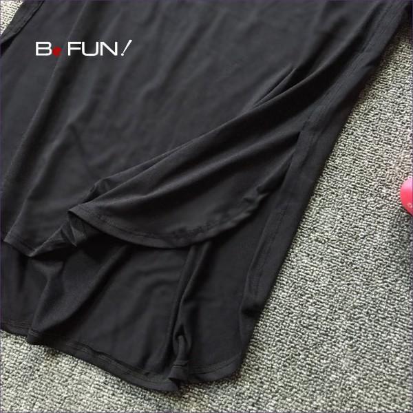 ヨガウェア おしゃれ トップス ロングTシャツ レディース ヨガ ホットヨガ ピラティス フィットネス ジム スリット入り 送料無料 befun 14