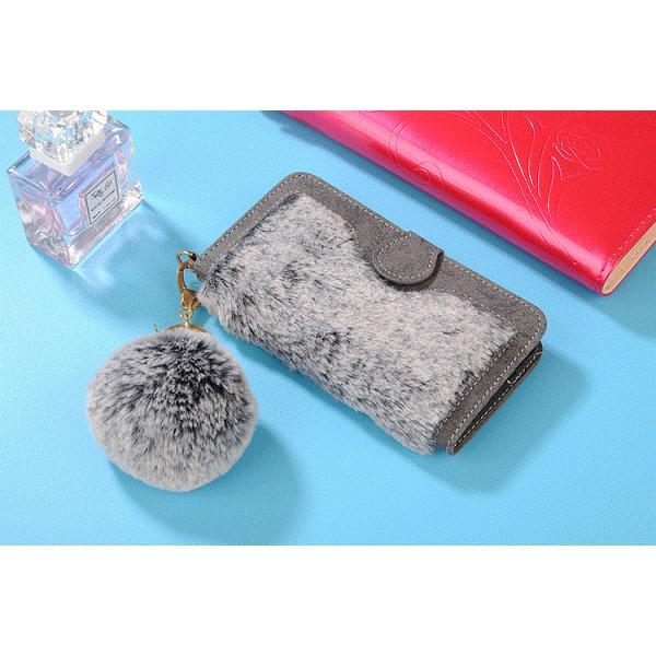 58d6697f0f ... 手帳型 iphone x iPhone8 iPhone7 Plus ケース ファー ふわふわ 横開きファーケース iphone6/