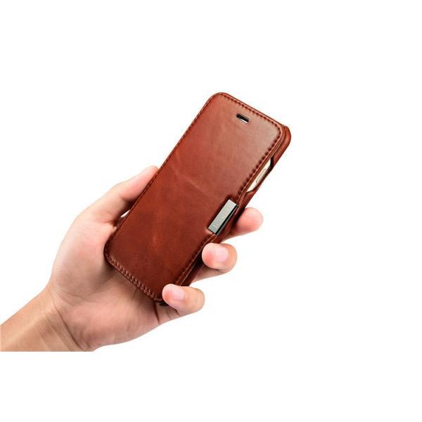 09453eeb0a ... マグネット式 iPhone7 iPhone8 レザーケース 手帳型 iPhone8 Plus/iPhone7 Plusオイルレザー 牛革