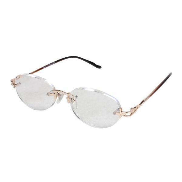 老眼鏡 エニックス +3.0 縁なし エニックス ERK-05+3.00