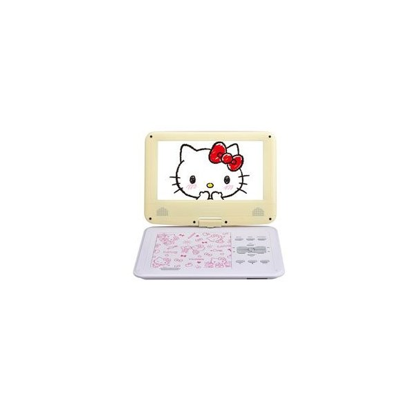 AVOX 9インチ ポータブルDVDプレーヤー ハローキティモデル HELLO KITTY ADP-9030MKTY-Y イエローの画像