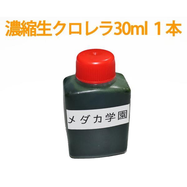 【メール便発送(テスト販売)】濃縮生クロレラ原液 30ml 1本 生クロレラ水 グリーンウォーター