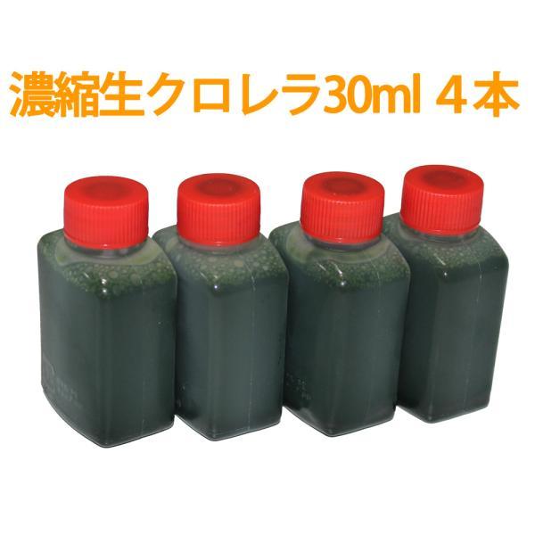 【メール便発送可】濃縮生クロレラ原液 30ml 4本 (合計120ml) 生クロレラ水 グリーンウォーター