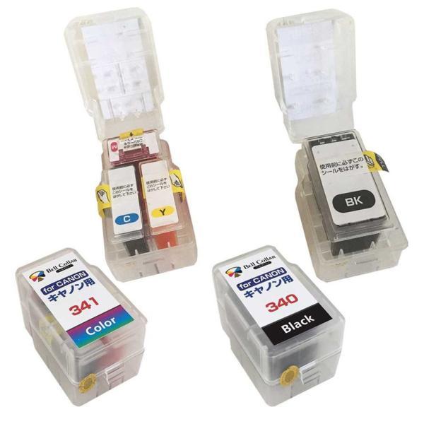 3年保証 キャノン CANON互換 BC-340 +BC-341 MG3630 詰め替えインク スマートカートリッジ 顔料 黒+カラー ベルカラー製|bellcollar|02