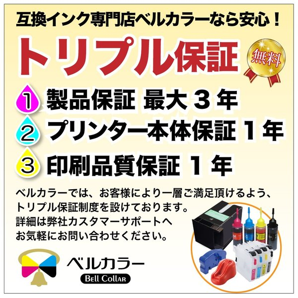 3年保証 インク注入用注射器 詰め替え用具 シリンジ 50ml ベルカラー製 bellcollar 03