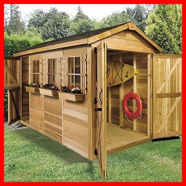 シダーシェッド ボートハウス小屋収納DIY住宅スペース場所自転車置場おすすめ物置きおしゃれ屋外作業部屋