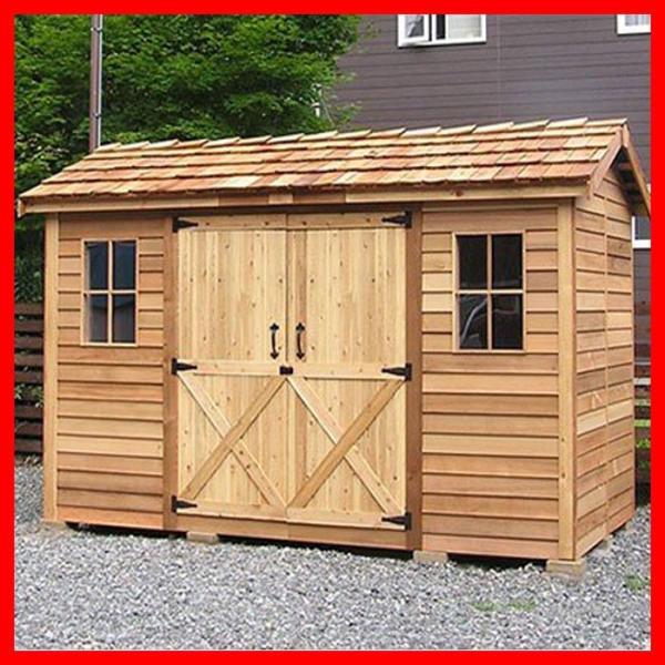 シダーシェッド ロングハウス小屋収納DIY住宅スペース場所自転車置場おすすめ物置きおしゃれ屋外作業部屋