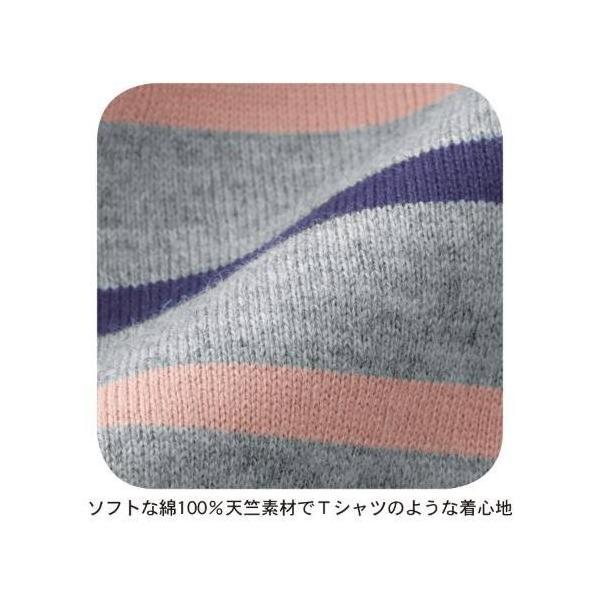 授乳対応マタニティボーダーチュニックパジャマ 「マタニティS〜マタニティ3L」|bellemaison|06